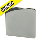 Crabtree 1-Gang Blank Plate Black Nickel