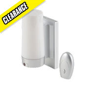 Matt Silver Battery Operated Cylinder LED Wall Light W