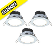 LAP Fixed LED Downlight Kit 320Lm Polished Chrome 4.5W 240V Pack of 3