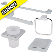 Swirl Vivera Bathroom Accessory Set Chrome Plated 5Pcs