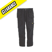 "DeWalt Low Rise Trousers Black 36"" W 31"" L"
