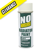 No Nonsense Radiator Paint White 400ml