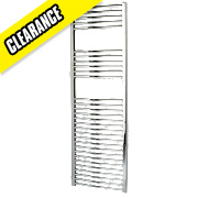 Kudox Curved Towel Radiator Chrome 1500 x 500mm 458W 1563Btu