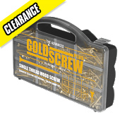Goldscrew Plus Woodscrews Handy Pack 750 Pieces