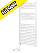 Kudox Flat Electric Towel Radiator White 1100 x 500mm 250W 854Btu