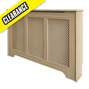 Victorian MDF Radiator Cabinet Small Unfinished 1020 x 210 x 868mm