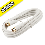 Coaxial Lead Plug to Plug White 2m