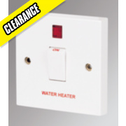 Marbo 20A DP Water Heater Switch with Neon White