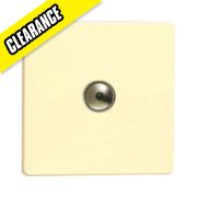 Varilight White Choc 1-Gang 400W Remote/Touch Control Master Dimmer