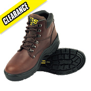 BROWN D RING HIKER BOOTS SIZE 8