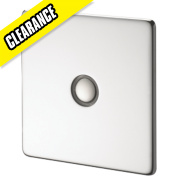 Crabtree 1-Gang 400W Touch Dimmer Pol Chrome Flt Plate