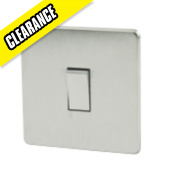 Crabtree 10AX Intermediate Switch Brushed Chrome