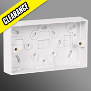 Volex 2-Gang 29mm Surface Box Moulded White