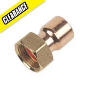 "Straight Tap Connector 22mm x ¾"" Pack of 10"