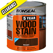 Ronseal Exterior 5 Year Wood Stain Satin Walnut 750ml