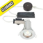 LAP Fixed Round Low Voltage Fire Rated Downlight Polished Chrome 12V