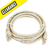 Patch Lead Ivory 2.0m Pack of 10
