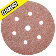 Norton 150mm Diameter Sanding Disc 180 Grit Pack of 10