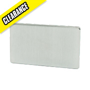 Crabtree 2-Gang Blank Plate Brushed Chrome