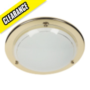 70700/16/01 Circular Ceiling Light Brass 16W