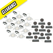 LAP Fixed Low Voltage Downlight Contractor Pack White 12V Pk10