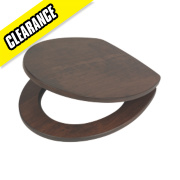 Swirl Soft-Close Toilet Seat Solid Wood Walnut