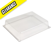 Trac Low Bay Polycarbonate Diffuser Clear