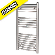 Kudox Curved Towel Radiator Chrome 900 x 450mm 197W 672Btu