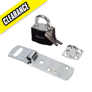 Squire 54mm Hasp & Staple with Padlock
