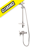 Swirl Essential Thermostatic Concentric Mixer Shower Flexible Exposed