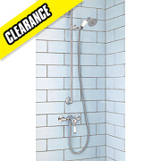 Moretti Classico Pressure Balancing Shower & Flex Kit Exposed Chrome