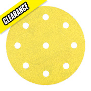 DeWalt 150mm 120 Grit Sanding Disc Punched Pack of 10