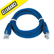 Patch Lead Blue 1.0m Pack of 10