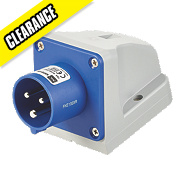 MK Commando Interlocked Angled Appliance Inlet 16A 200-250V (IP44)