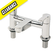 Swirl Elevate Dual Lever Bath Filler Tap Chrome-Plated