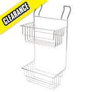 Croydex Hook-Over 2-Tier Deep Basket