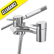 Bristan Oval Bath/Shower Mixer Bathroom Taps Pair
