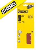 DeWalt 115 x 228mm 120 Grit ½ Sanding Sheets Pack of 10
