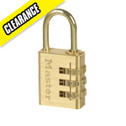 Master Lock Brass 3 Digit Combination Padlock Brass 30mm