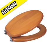 Toilet Seat Solid Wood Antique Pine