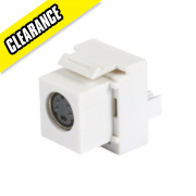 Keystone S-Video to 110 IDC Media Jack
