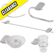 Swirl Ovali Bathroom Accessory Set 5Pcs Chrome Effect