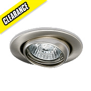 JCC Lighting Fireguard Adjustable LV Fire Rated Eyeball Downlight Brushed Chrome 12V