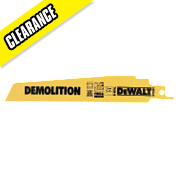 DeWalt DT2301 152mm 10Tpi Demolition Reciprocating Saw Blades Pack of 5