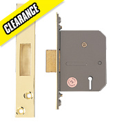 "Eclipse 5-Lever Mortice Deadlock Polished Brass 2"" / 64mm"