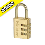 Master Lock Aluminium Combination Padlock Brass-Plated 30mm