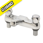Swirl Contract Metal Head Bath Filler Tap Chrome