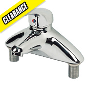 Swirl Single Lever Bath Filler Tap Chrome