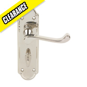Urfic Ashworth Lever Lock Door Handle Pair Polished Nickel