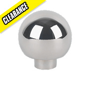 Ball Top Knob Polished Chrome 32mm Pack of 2